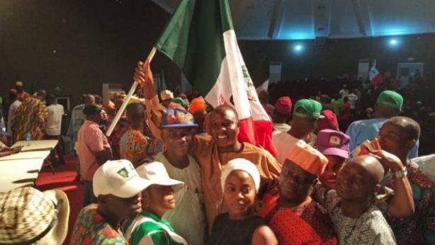 Solarin with jubilant well wishers