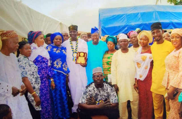 Omooba Sunday Solarin with Associates, Families Friends and Well-Wishers