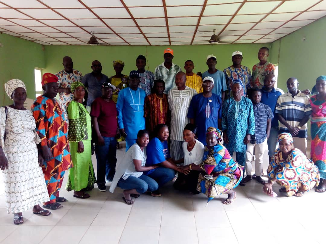 Omooba Sunday Solarin with Ikenne LG Ward 2 Executive Officers and Leaders