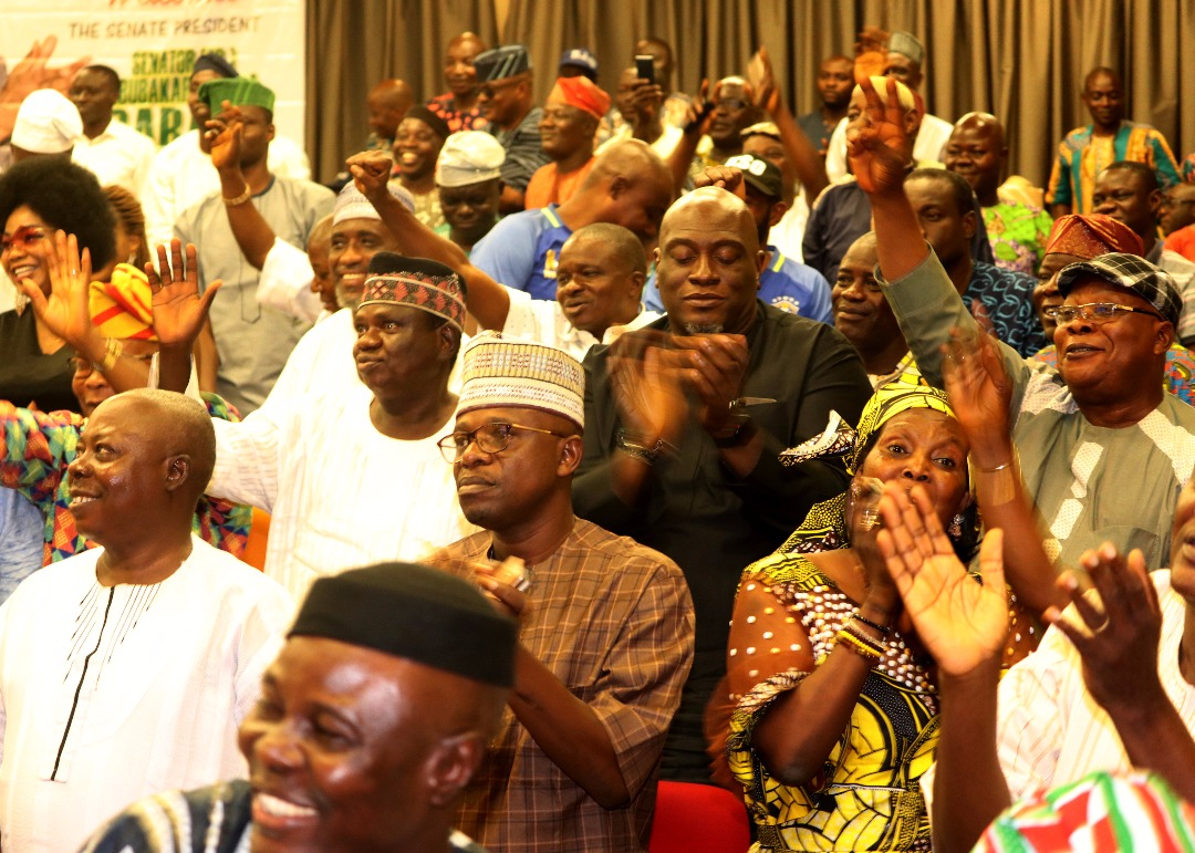 Cross-section of delegates and leaders at Dr Saraki Consultation Visit to Ogun State