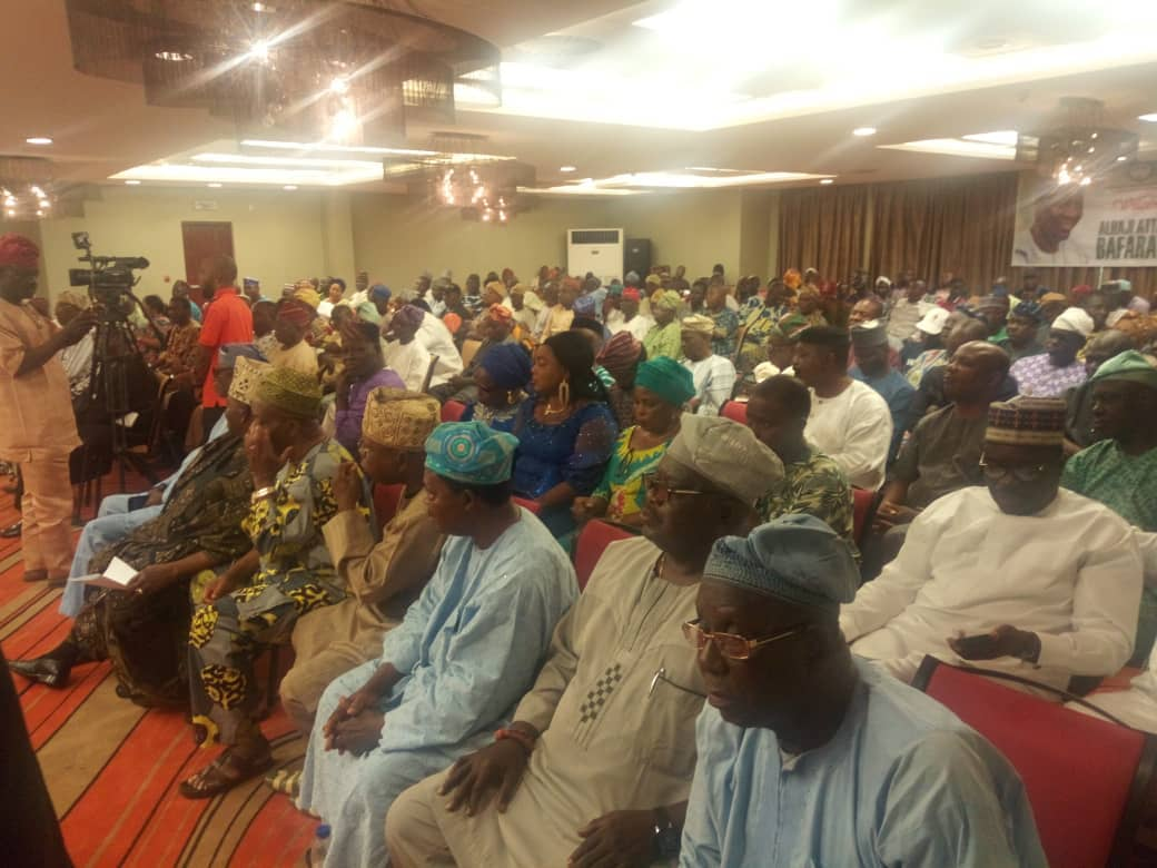 Cross section of party leaders and delegates during Barafawa Consultation to Ogun PDP