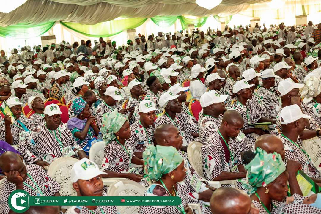 Cross-section of delegates at the Ogun PDP gubernatorial primary on September 27, 2018