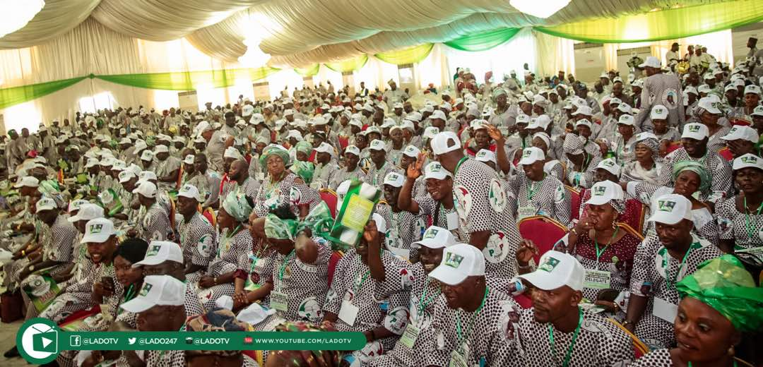 Cross-section of participants at the 2018 Ogun PDP Gubernatorial Primary in Abeokuta