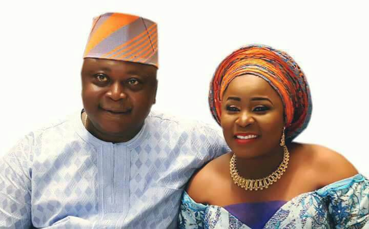 Hon Ladi Adebutu with his supportive wife, Yeye Adenike Adebutu