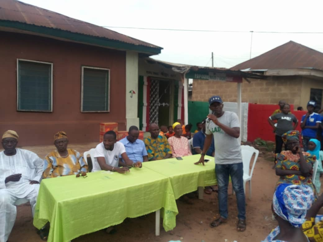 The Chairman of ward 7, Ogere, Hon Kayode Awokoya, appreciates the members for their dedication