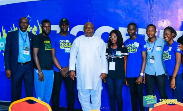 Hon Adebutu and Omooba Solarin with some of the Ogun Youth Summit participants