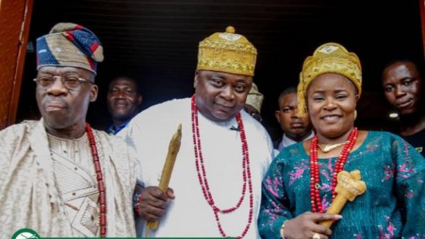 Hon Ladi Adebutu and Wife, Yeye Adenike Adebutu bag Chieftaincy Titles in Ijofin