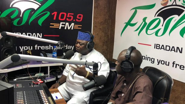 Hon Ladi Adebutu at Fresh 105.9 FM Ibadan-