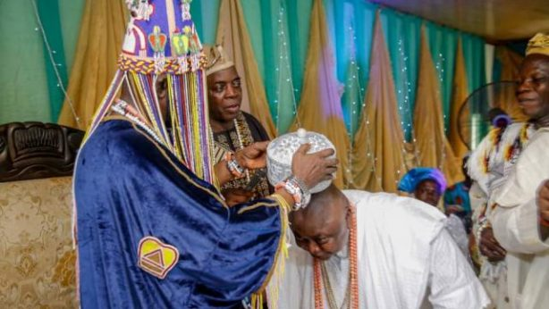 Hon Ladi Adebutu installed as Baba Oba of Odo-Jobore