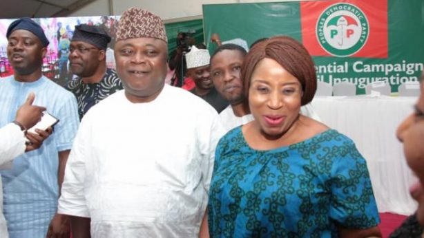 Hon Ladi Adebutu with Ogun State Women Leader, Dr Folasade Filani, A member of the Atiku Presidential Campaign Committee