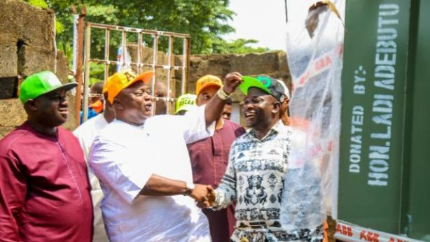 Hon Adebutu donates 500KVA transformer to the Mechanic Village, Makun, Sagamu