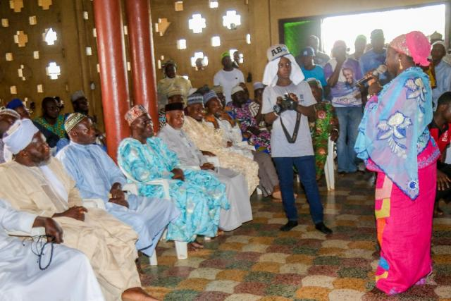 Hon Ladi Adebutu in an interactive meeting with the League of Imams and Alfas