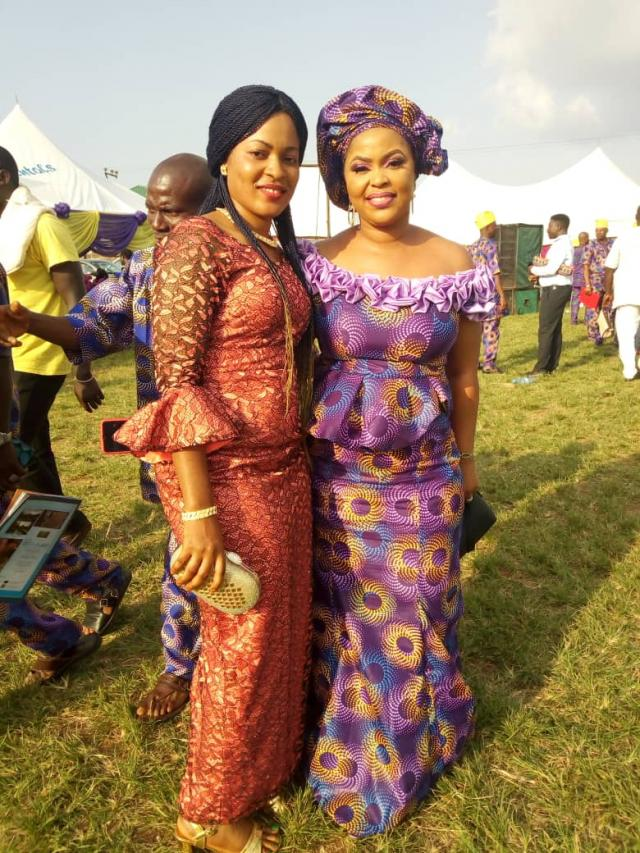 Princess Aanuoluwapo Babington-Ashaye (left)and Mrs Morufa Alaka at the program